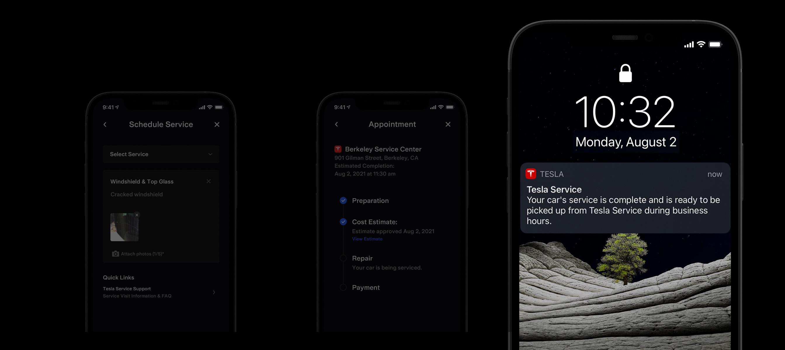 Notification de service sur iPhone