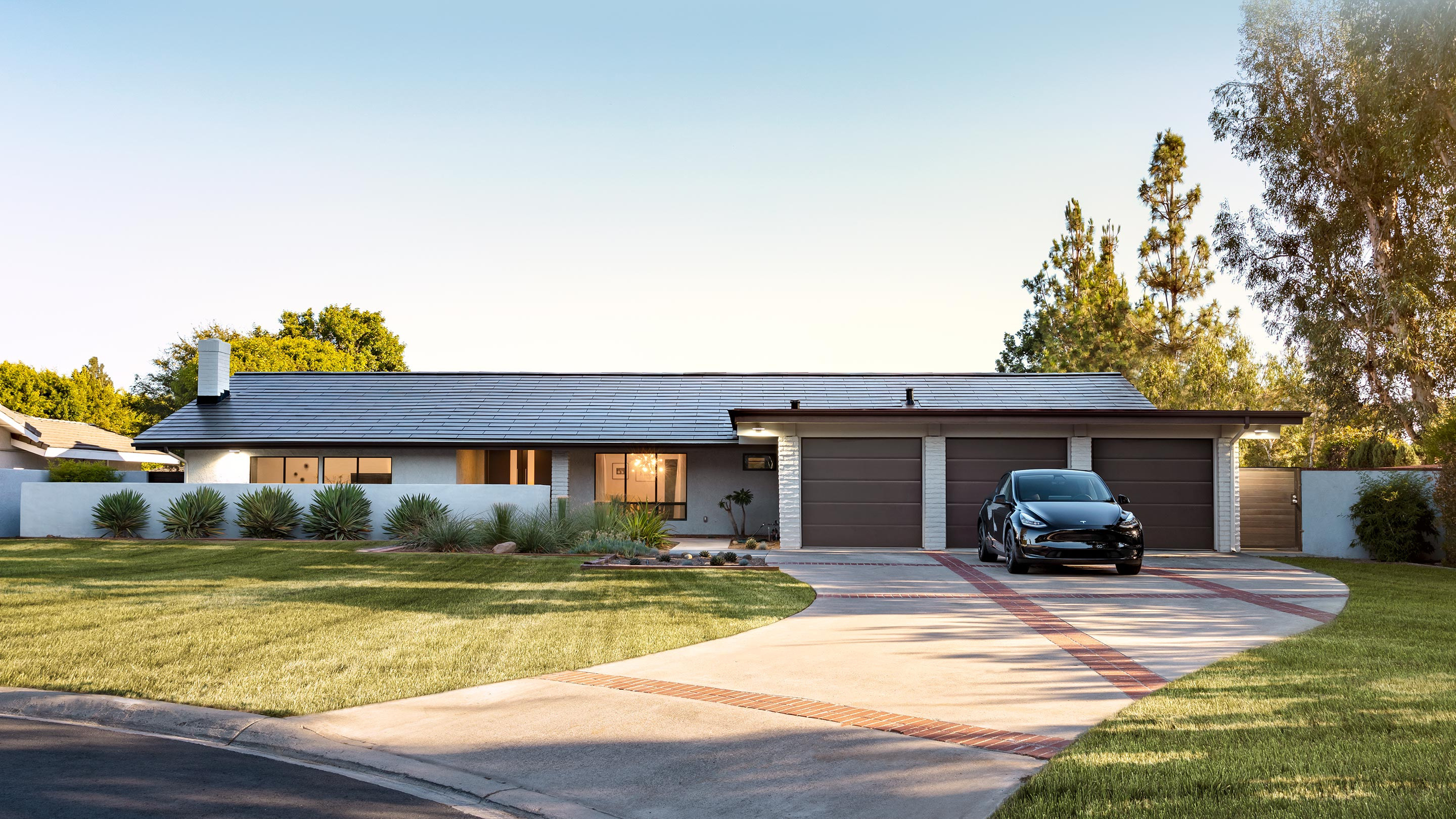 Home outfitted with Tesla Solar Roof