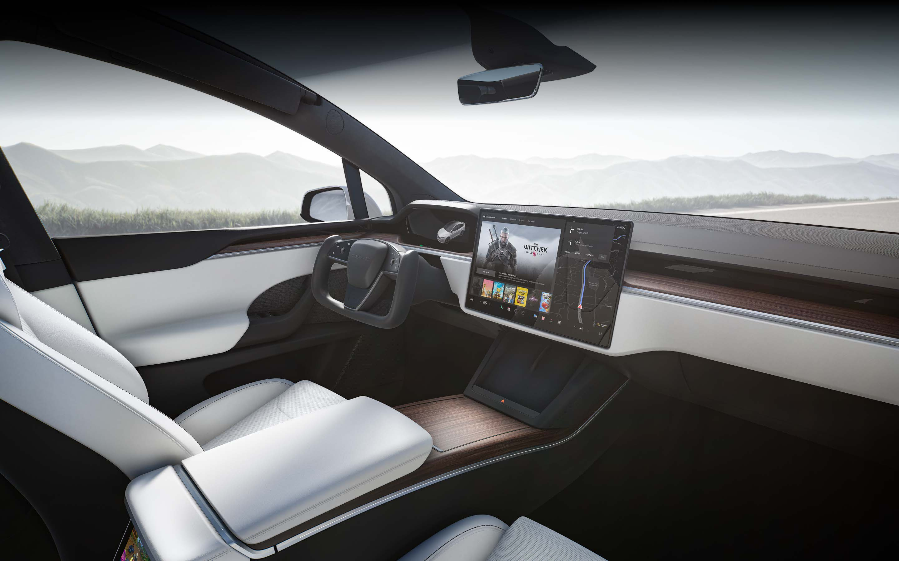 Model X Interior Hero Image