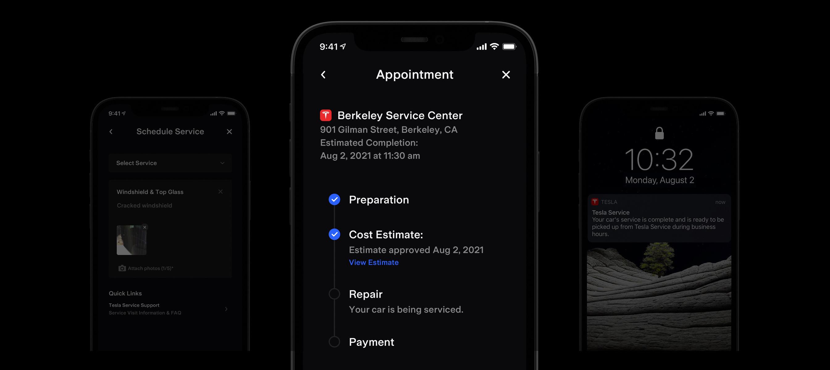 Application de Tesla pour iPhone