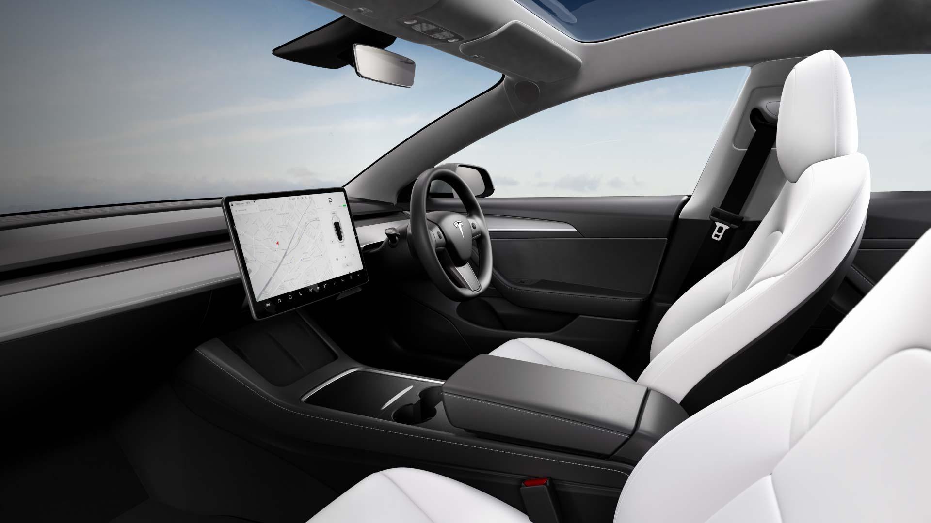 RHD Model 3 Interior