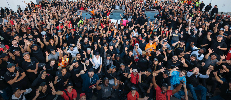 Group of Tesla employees.