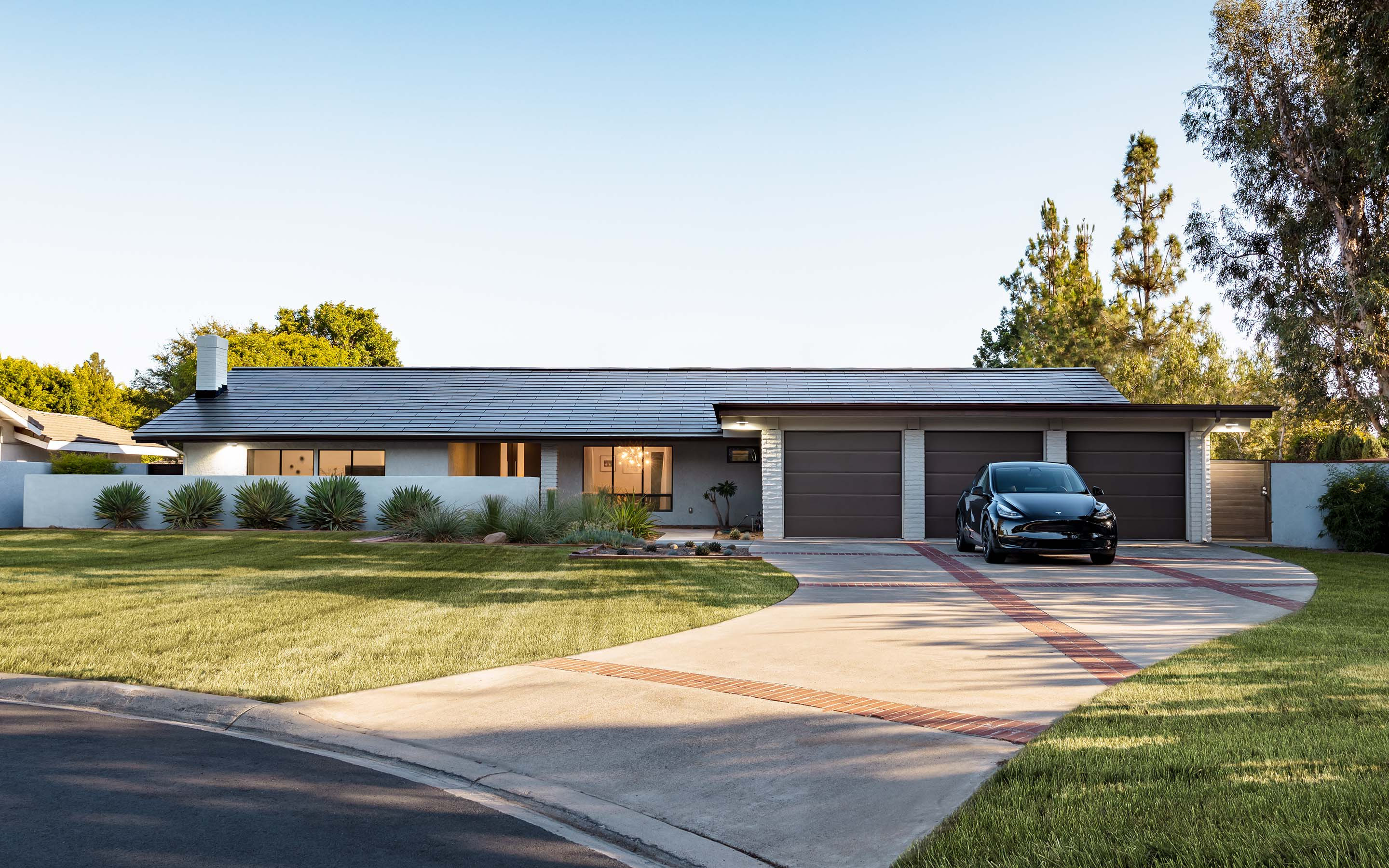 Home with Tesla Solar Roof installed