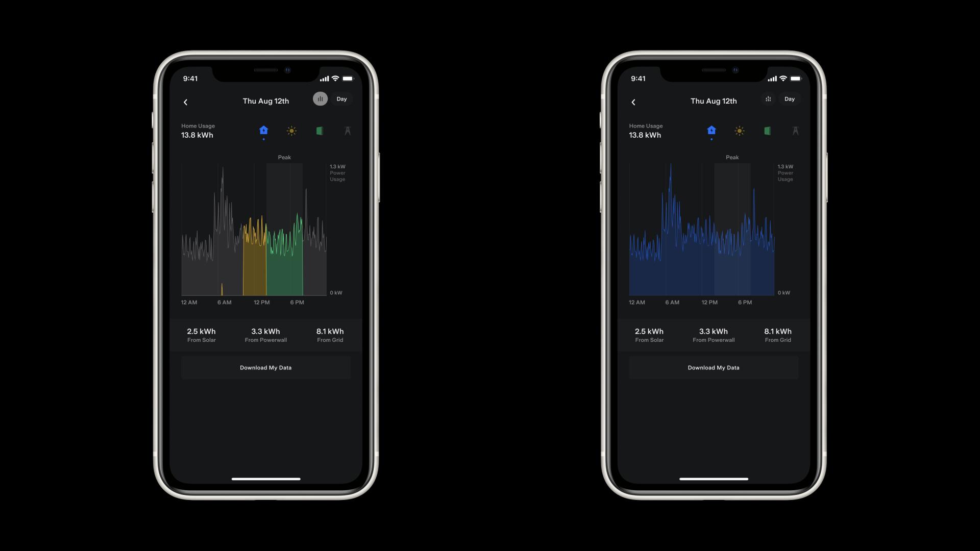Tesla Mobile App Energy Data Home Component