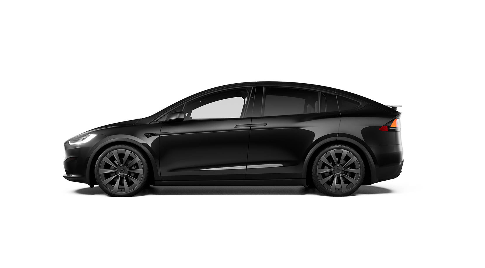 Side view of black Model X